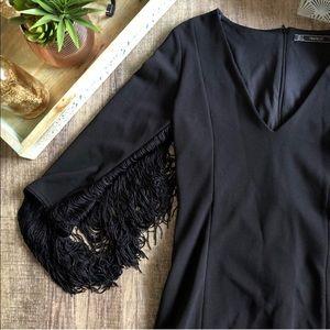 Zara Trafaluc Fringe Dress